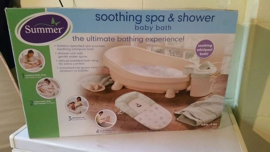 iowa south des moines other summer soothing spa shower baby bath box