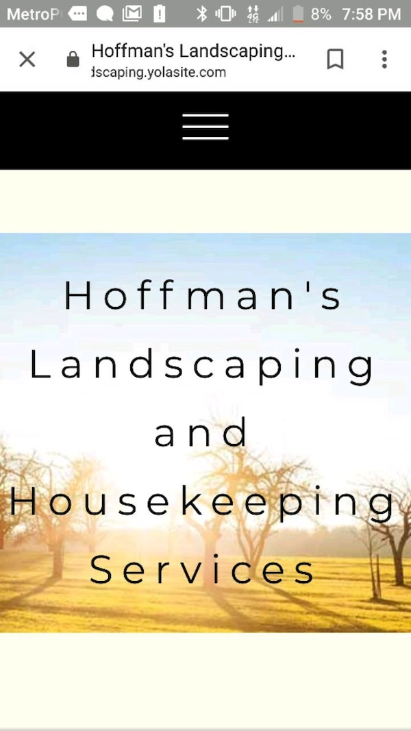 Hoofman's Landscaping and Housekeeping Services signage screenshot