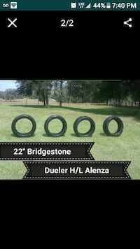 "4 22"" Bridgestone Tires  Brooksville, 34601"