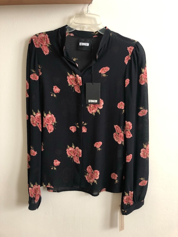 Reformation blouse 0
