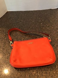 Fossil Erin small topzip bright orange handbag brand new Manassas, 20112