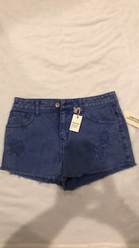 Forever 21 cut off faded royal blue denim brand new shorts size 26 Bakersfield, 93301