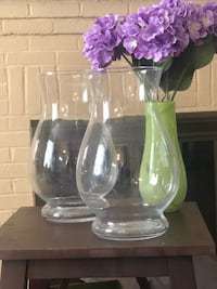 Two clear wedding glass vases Cheverly, 20785