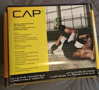 CAP 10LB Adjustable Ankle/Wrist Weights - Great Christmas Present Toronto