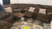 L Shaped sofa / couch with recliners