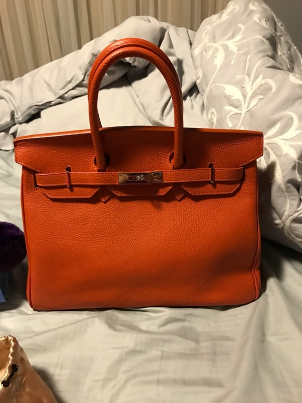 5b49afd6930e Used brown leather Teddy Blake caty stampatto 14 tote bag for sale ...