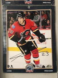 Sean Monahan  autographed photo Airdrie, T4B 2W3