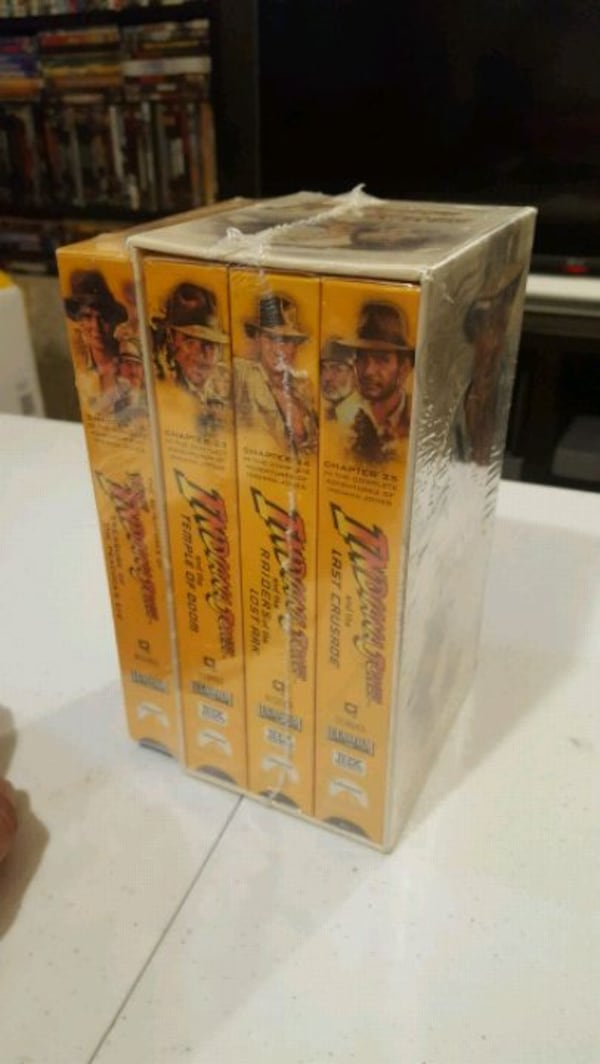 Vintage Indiana Jones VHS Collections  ca0f2319-669c-4c42-8223-c3d9cfefcce7