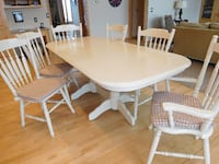 oval white wooden table with four chairs dining set MIDDLETOWN