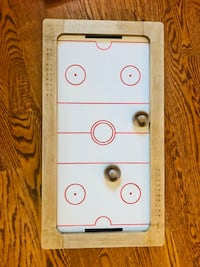 Classic table hockey game, partly wooden