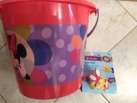Brand new minnie mouse easter jumbo plastic bucket Easter Palm Pet ® Chirping Chick. (Pick up only) Alexandria, 22315