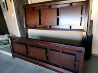brown wooden headboard and footboard El Paso, 79938
