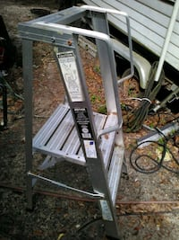 gray metal folding ladder and chair Semmes, 36575