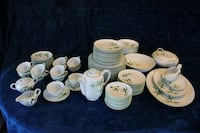 94p dinner and tea set by 'Orient Japan'. Very high quality bone china Plano, 75075