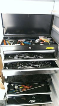 black and gray metal tool chest Aurora, 80012