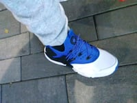 unpaired blue and white Nike basketball shoe Rockville, 20850