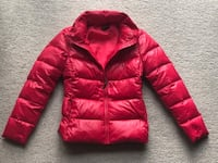 Benetton puffer down jacket - pink, XS Vancouver, V6E