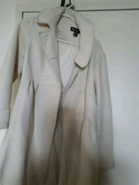 white button-up coat Toronto, M4H 1C7