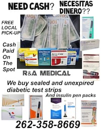 test strips and insulin