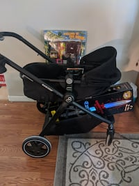 Baby works for the family. Stroller not for sale.