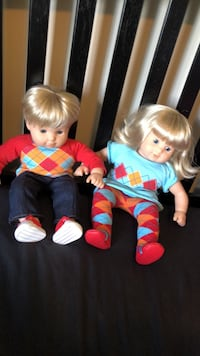 American girl doll twin dolls