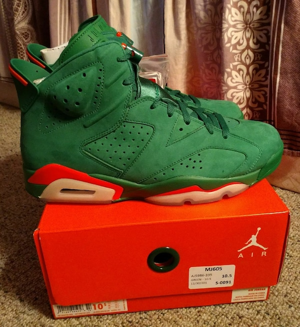 0796a8f3dc1405 Used Nike Air Jordan 6 Retro Gatorade Size 10.5 for sale in Atlanta ...