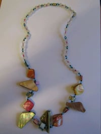 Stone and beaded necklace London
