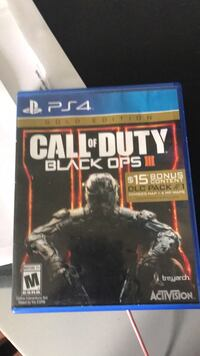 Call of Duty Black Ops 3 PS4 game case North Dinwiddie, 23803