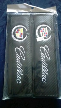 Cadillac seatbelt covers - carbon fibre style Mississauga