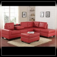 red leather sectional sofa screenshot Austin