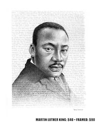 Martin luther king drawing  Beaumont, T4X 1C6
