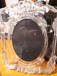 oval clear floral glass photo frame STRATFORD