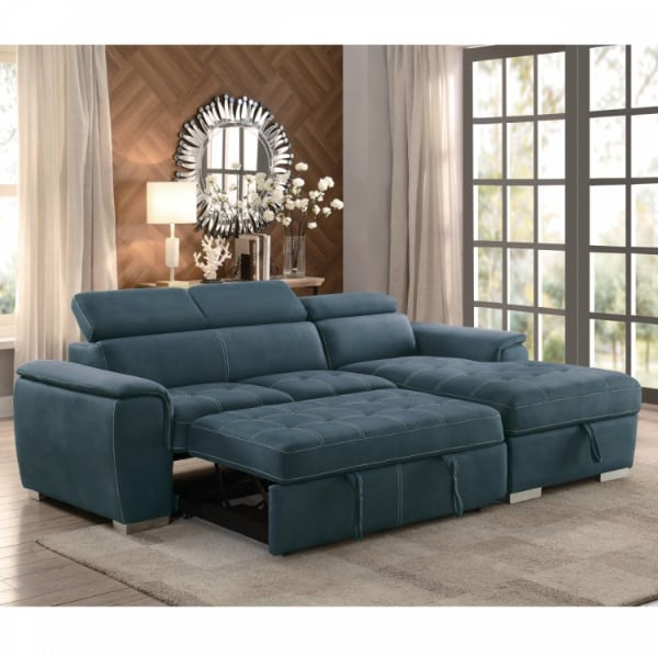 2-Piece Sectional with Pull-out Bed and Hidden Storage Ferriday  - Brand New - Free Home Delivery SF bay area