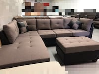 Brand new light brown large fabric sectional sofa with storage ottoman warehouse sale  多伦多, M1S 4A9