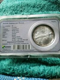 silver American eagle commemorative coin pack San Jose, 95110