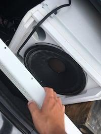 Black and white subwoofer speaker I bought it for $1,500 and it has too much power for me Cape Coral, 33909