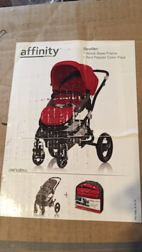 Britax Affinity red and black stroller
