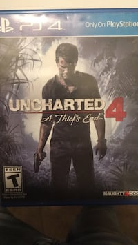 Uncharted 4 ps4 game case Virginia Beach, 23453