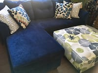 """Couch chaise with ottoman 88""""L x38"""" wide  898 mi"""