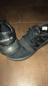 Pair of black adidas sneakers. Size 6 St Albert, T8N 1H9