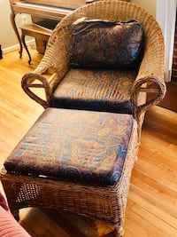 Pier One Wicker Chair and Ottoman Bethesda, 20817
