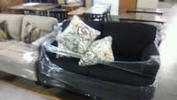 black and white floral sofa Charlotte, 28270
