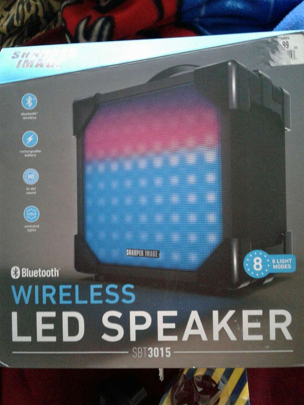 Used Sharper Image Wireless Led Speaker Sbt 3015 Box For Sale In