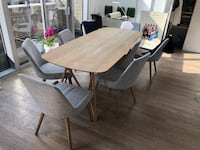 Modern artsy 87'' wooden dining table (chairs NOT included) New York, 10010