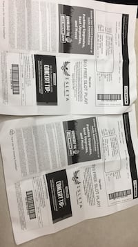 two white and black tickets Las Vegas, 89101