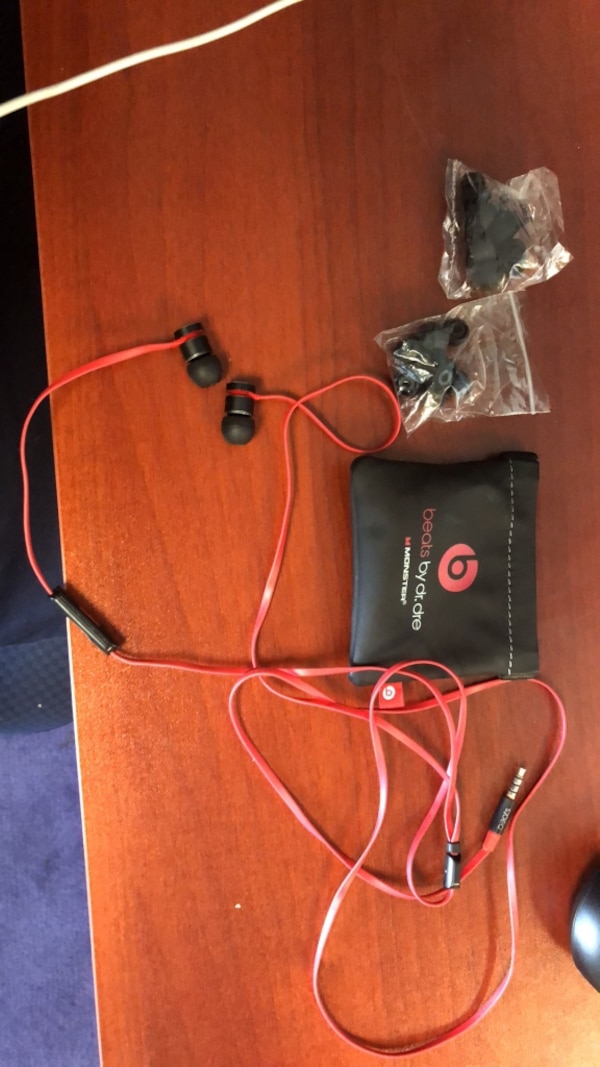 beats headphones case and extra ear buds