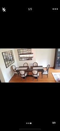 Four restoration hardware middle chairs