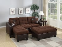 Brand new brown microfiber sectional sofa with ottoman  Silver Spring, 20902