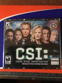 CSI pc-CD rom game