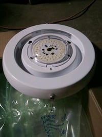 LED. Disk Light with pull chain switch or hookup to light switch